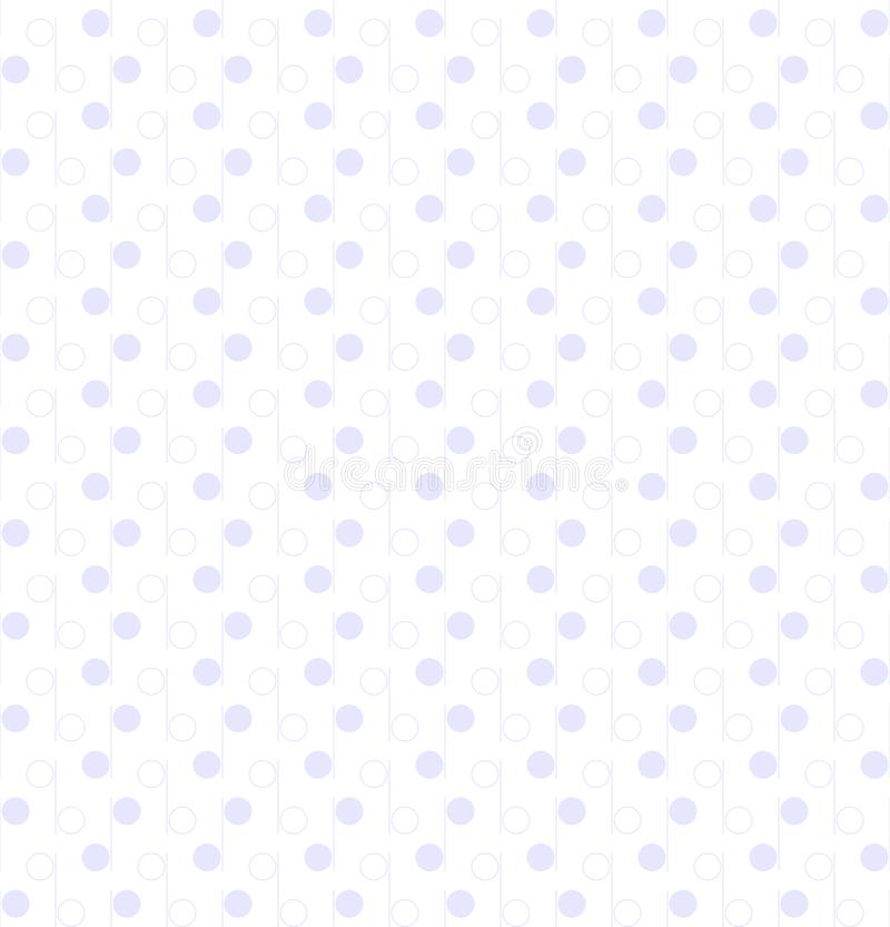 Line and circle shapes. vector seamless pattern. simple white repetitive background. textile paint. fabric swatch. wrapping paper royalty free illustration