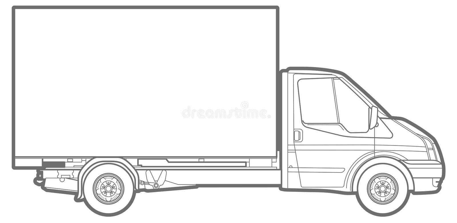 Download Line commercial truck stock illustration. Illustration of silhouette - 79156725