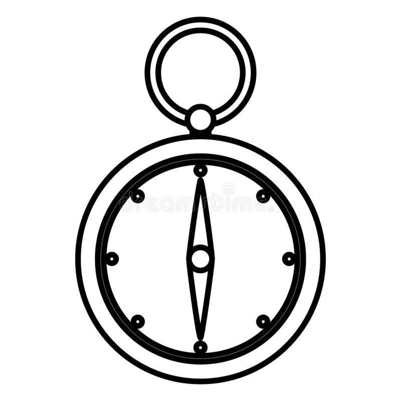 Line compass aventure object to geography direction royalty free illustration