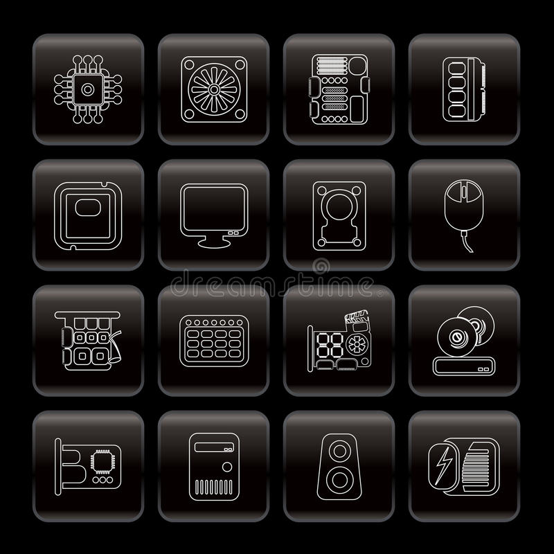 Download Line Computer  Performance And Equipment Icons Stock Vector - Image: 11934679