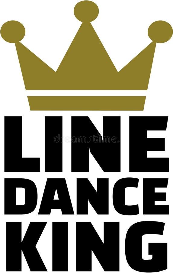 Line dance king. Vector sports royalty free illustration