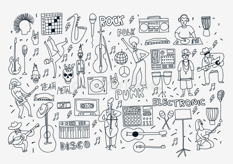 Music Genres Stock Illustrations – 327 Music Genres Stock