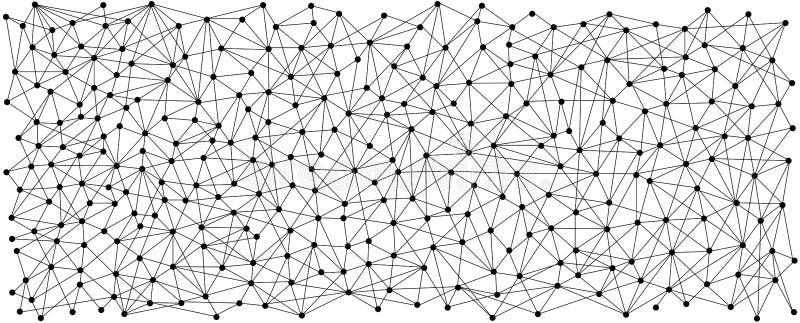 Line and dot pattern background vector illustration
