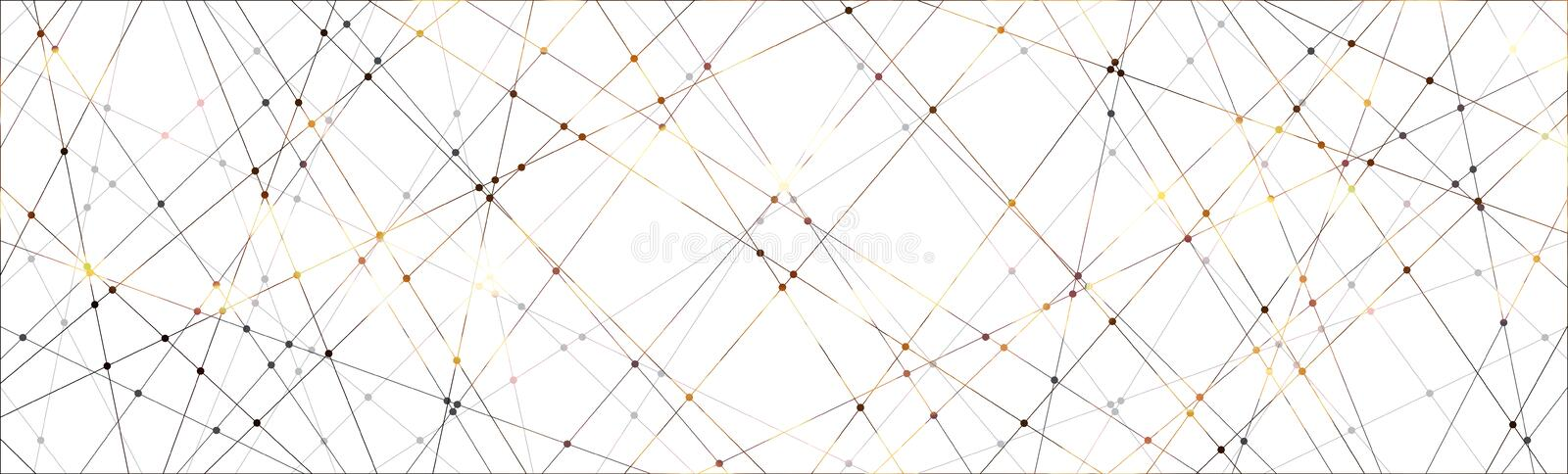 Line and dot pattern background. stock image