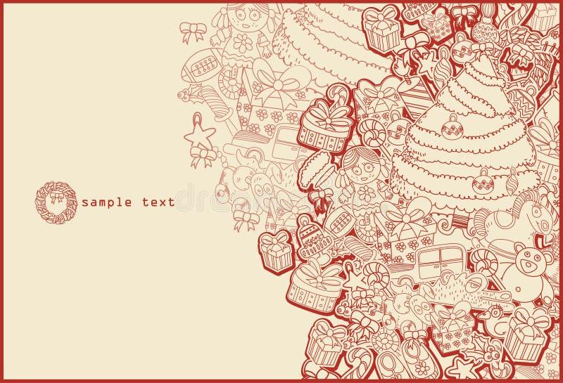 Download Line Drawing Christmas Theme Stock Illustration - Image: 11845363