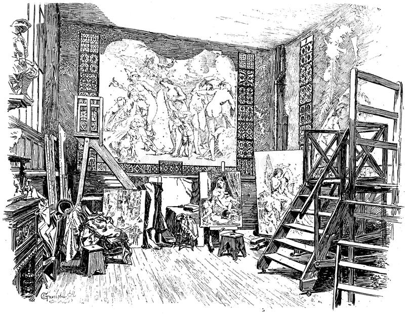 Line Drawing Of Museum Interior Free Public Domain Cc0 Image
