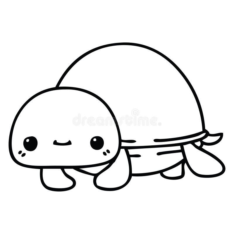 Turtle Sea Creature Animal Wildlife Tortoise Cute Cartoon