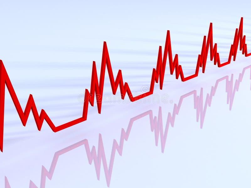 Line Of ECG Hearts Stock Image