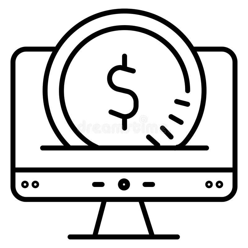 On-line-Einkaufsikone Auch im corel abgehobenen Betrag vektor abbildung