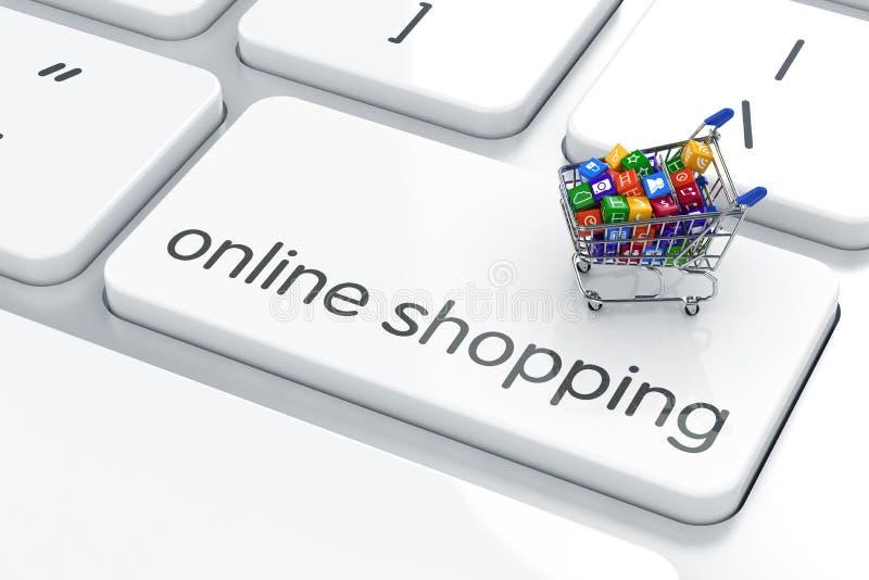 On-line-Einkaufskonzept stock abbildung