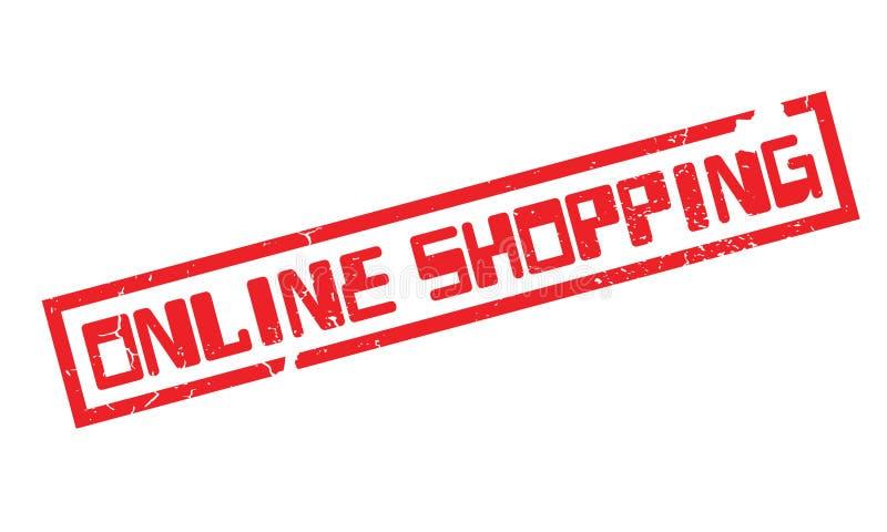 On-line-Einkaufsstempel vektor abbildung