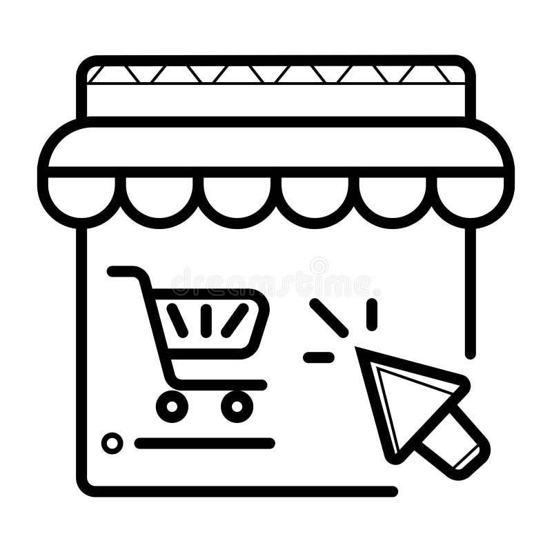 On-line-Einkaufsvektorikone vektor abbildung