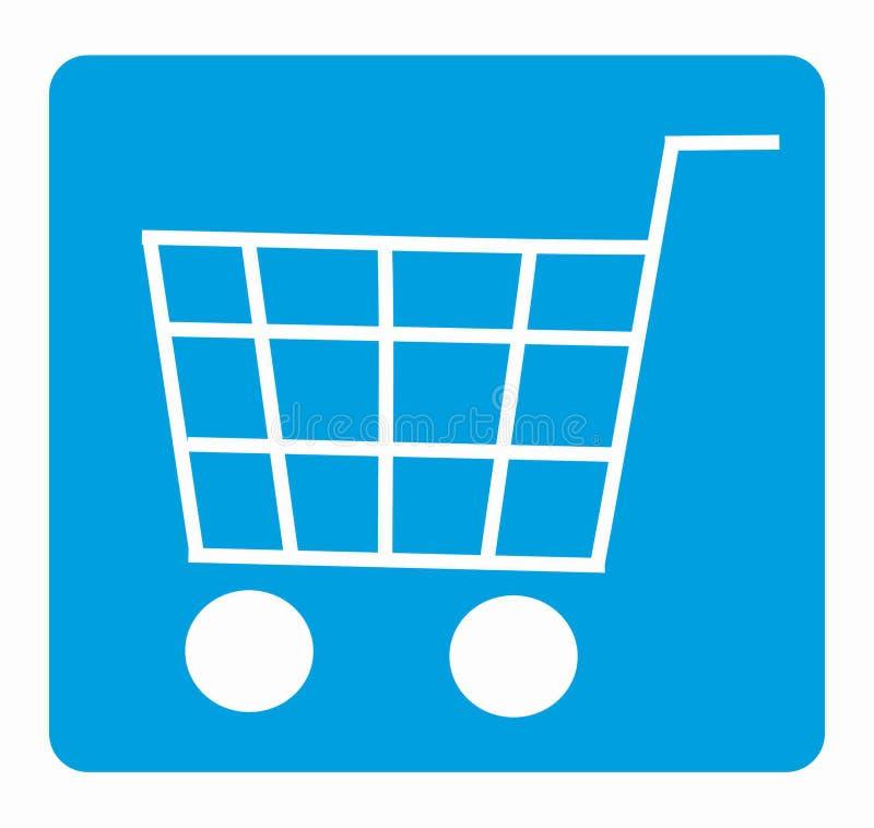 On-line-Einkaufswagenikone lizenzfreies stockfoto