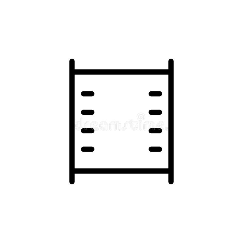 line filmstrip video icon on white background vector illustration