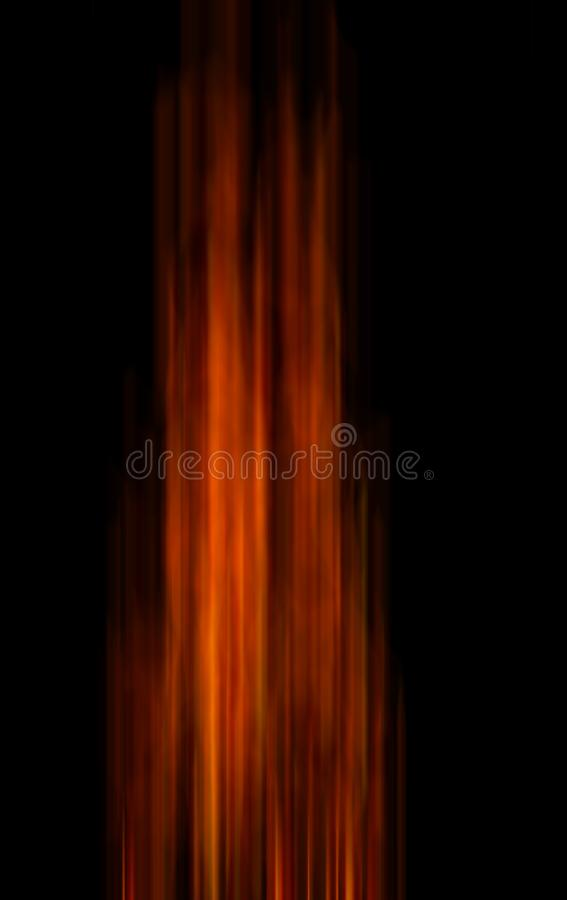 Line of fire flame motion blur stock photography