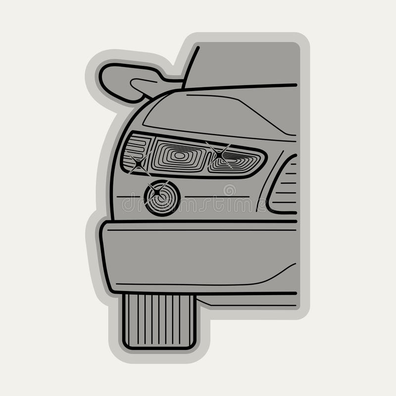 Line flat vector icon car parts stock illustration