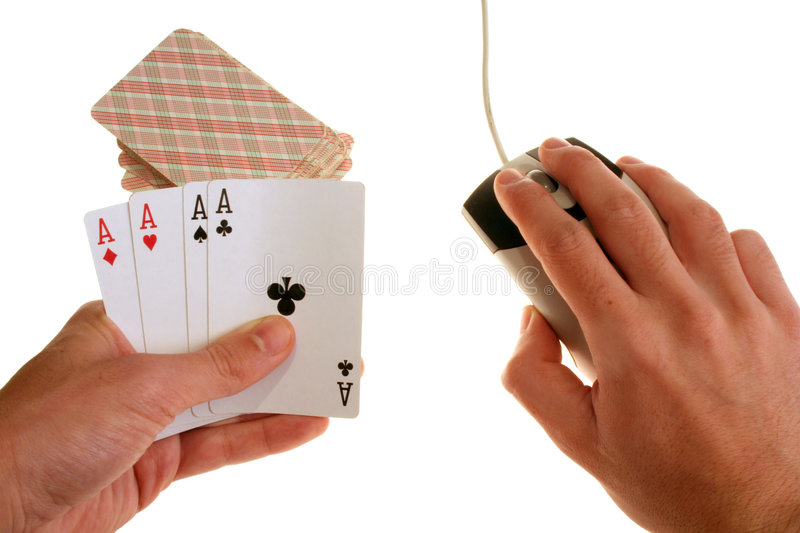 Download On-line gambling stock photo. Image of deck, luck, line - 1564220