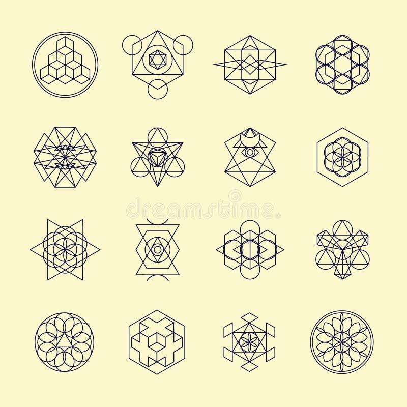 Line Geometric Design Symbols And Elements Stock Vector