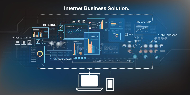 On-line-Geschäftshintergrund