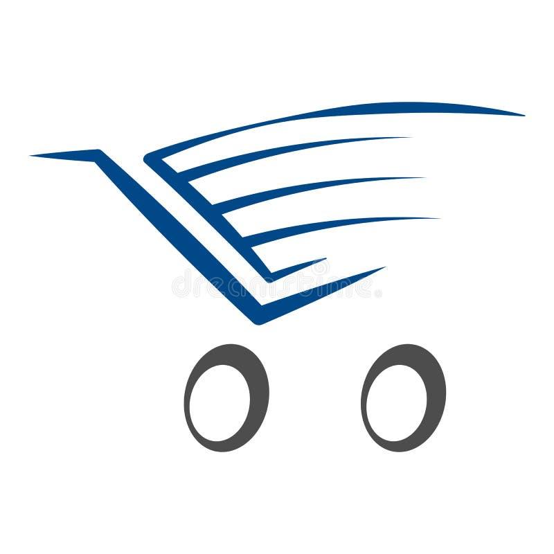 On-line-Geschäftslogoschablonenentwurfs-Vektorillustration lizenzfreie abbildung