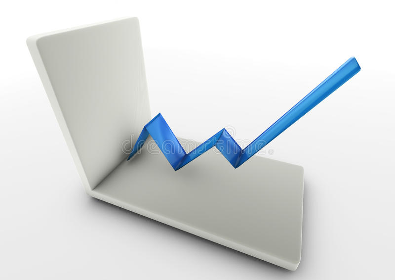 Download Line graph stock illustration. Illustration of positive - 23979041