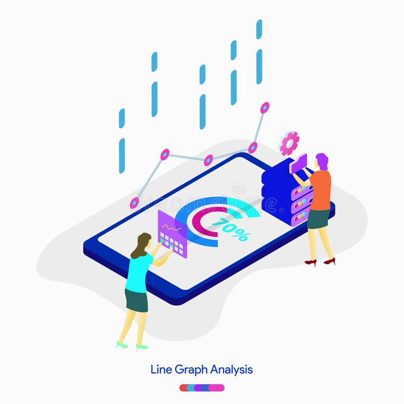 Line Graph Analysis royalty free illustration