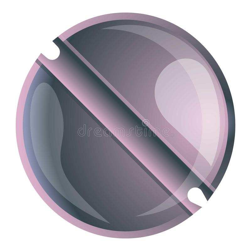 Line head screw icon, cartoon style. Line head screw icon. Cartoon of line head screw vector icon for web design isolated on white background vector illustration