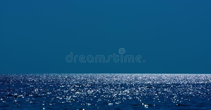 Line of the horizon at sea. The horizon line on the Black Sea stock photography