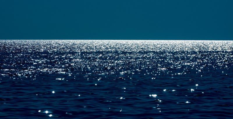 Line of the horizon at sea. The horizon line on the Black Sea stock image