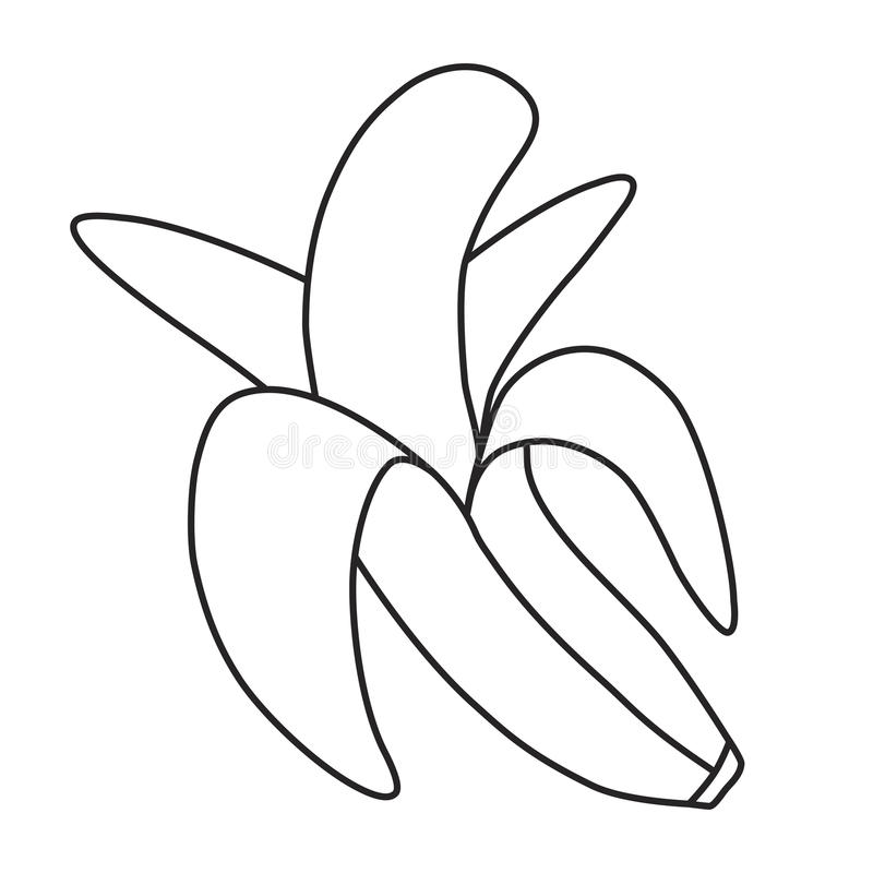 Line icon banana stock illustration