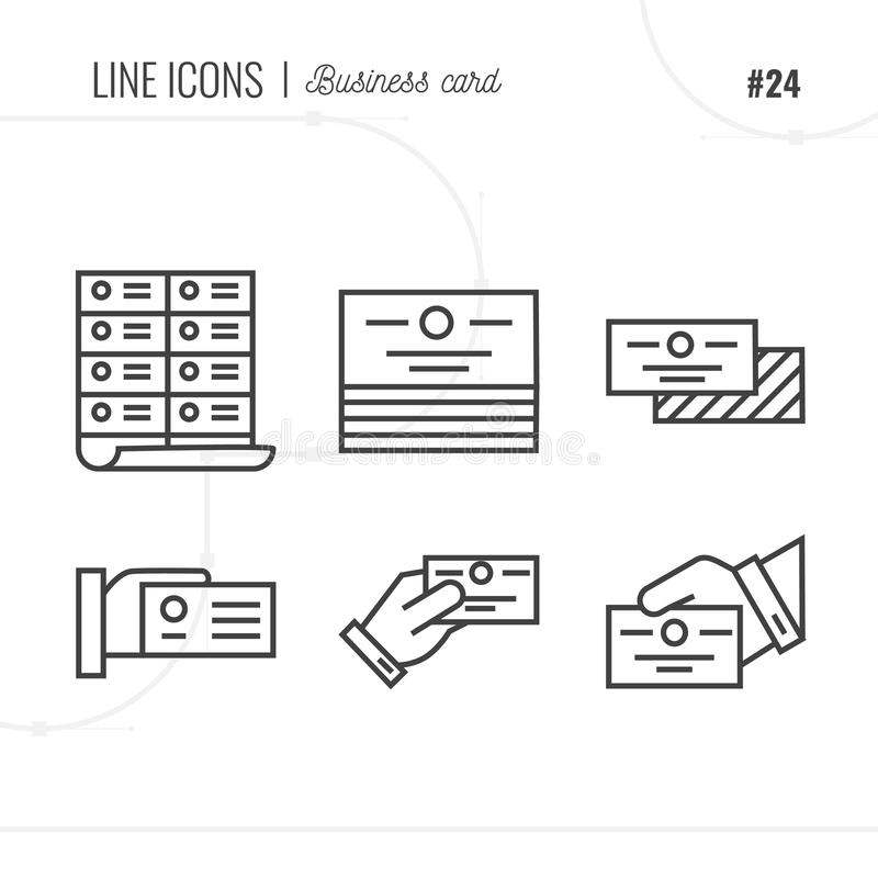 Line Icon Of Business Card, Message, Address, Isolated Object. L ...