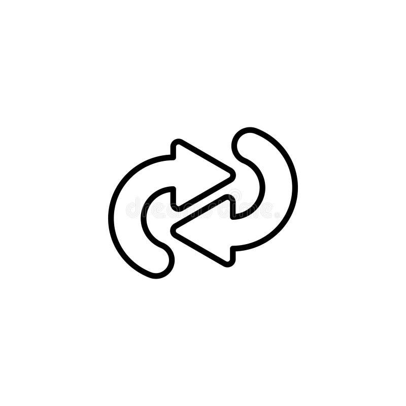 Line icon. Circular arrows stock illustration