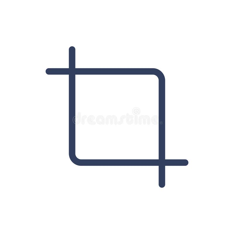 Line icon crop. Isolated on white background. Vector illustration royalty free illustration