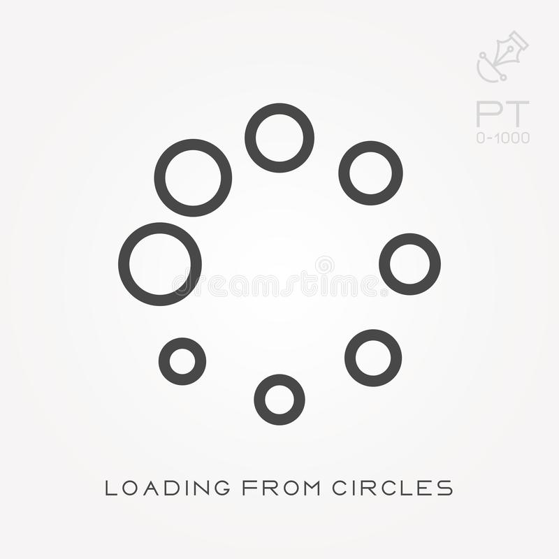 Line icon loading from circles vector illustration