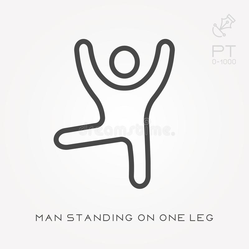 Standing One Leg Stock Illustrations