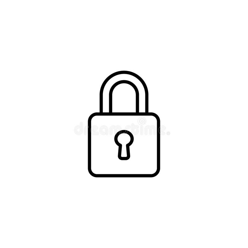 line icon. Padlock symbol royalty free illustration