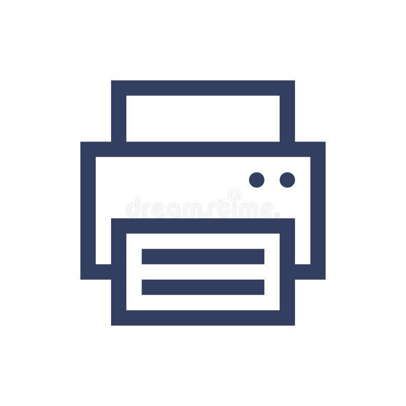 Line icon printer royalty free illustration