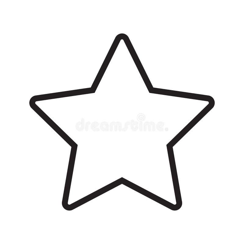 Line icon star. Isolated on white background. Vector illustration stock illustration