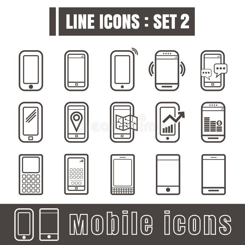 Line icons black set 2. Illustration eps 10 on white background stock illustration