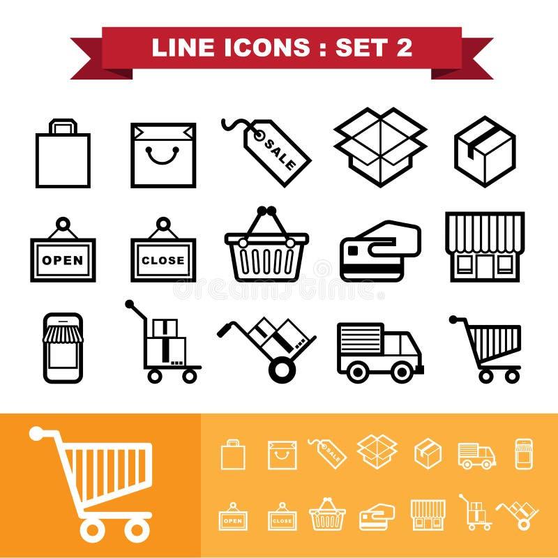 Free Line Icons Set 2 Stock Image - 43174261