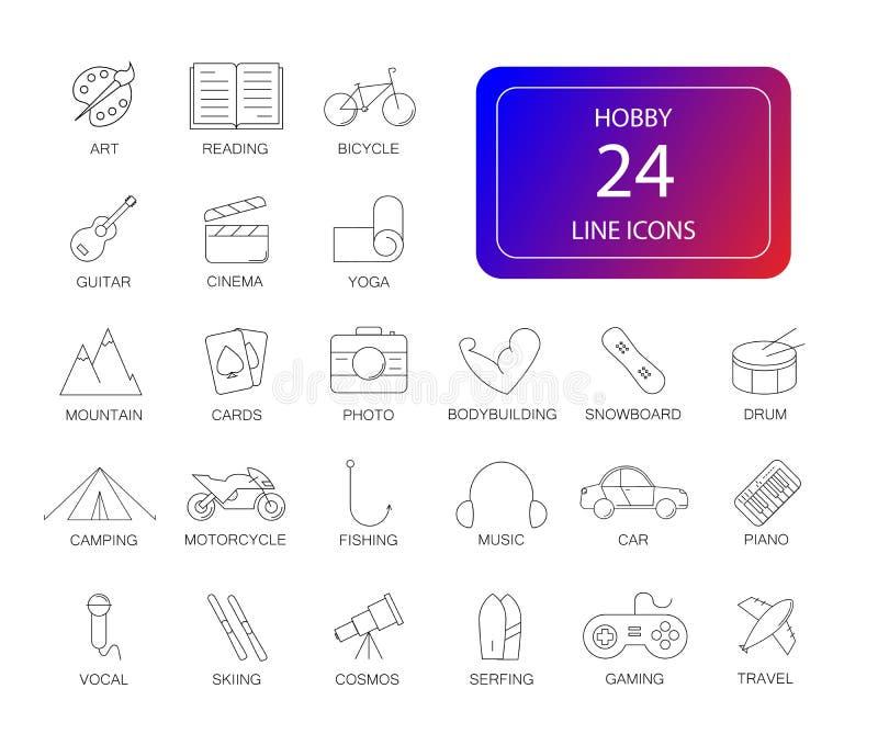 Line icons set. Hobby pack. Vector illustration vector illustration