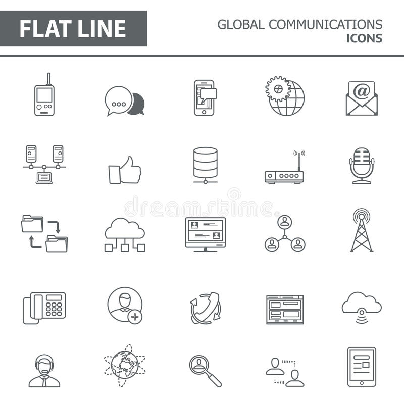 Line icons royalty free illustration