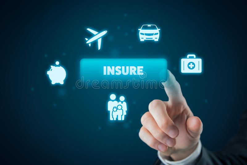 On-line insurance concept stock photo