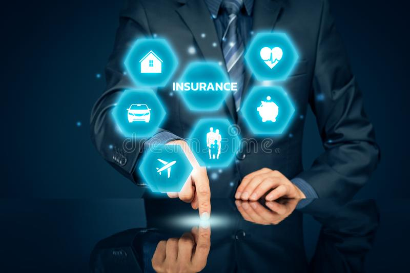 On-line insurance concept royalty free stock photos