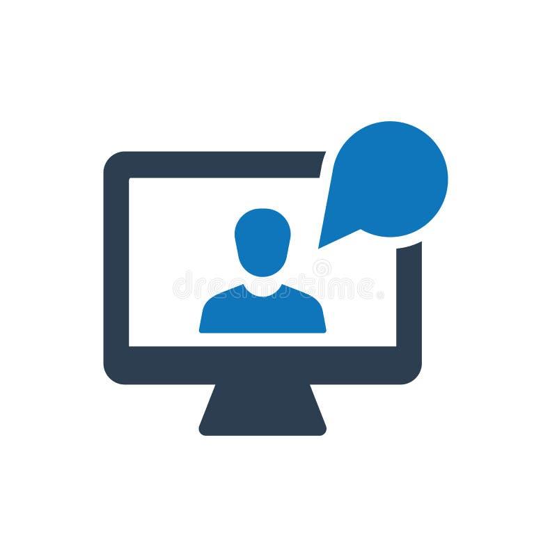 On-line-Interview-Ikone stock abbildung