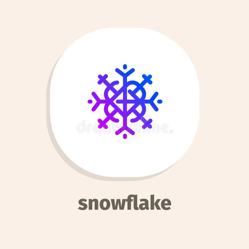 Line and isometric vector illustrations icons for web and mobile applications. Snowflake line vector illustrations icons for web and mobile applications stock illustration