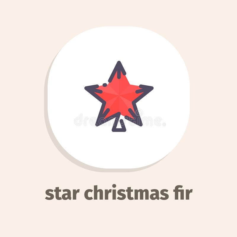 Line and isometric vector illustrations icons for web and mobile applications. Star christmas fir isometric vector illustrations icons for web and mobile stock illustration