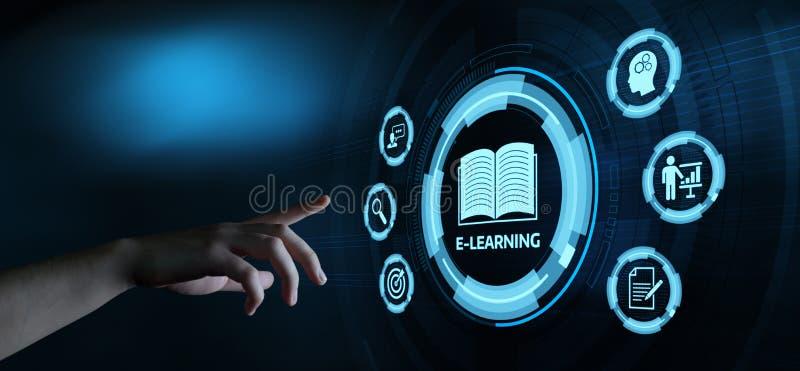 On-line-Kurskonzept E-Learning-Ausbildungs-Internet Webinar stockbild