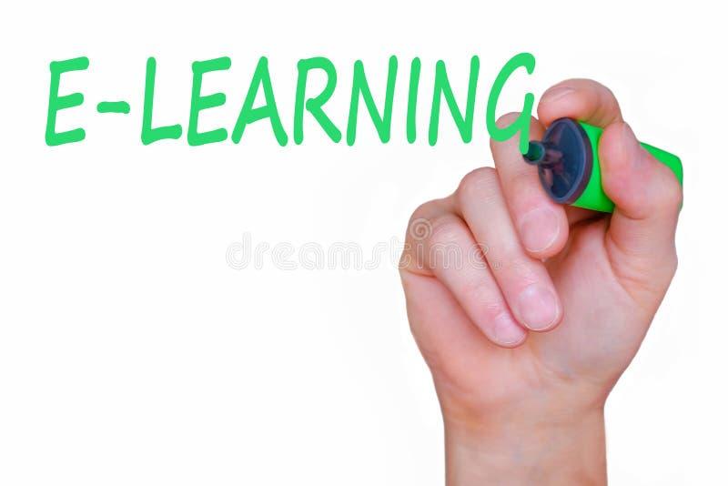 On-line-Kurskonzept E-Learning-Bildungs-Internet-Technologie Webinar stockbild