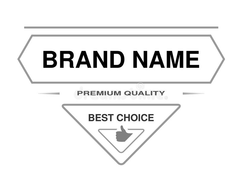Line Label Triangle Frame For Brand Name With Text Of Premium
